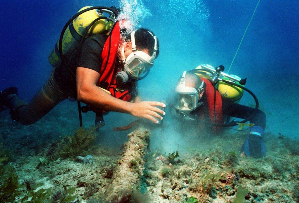 Mergulhadores experientes