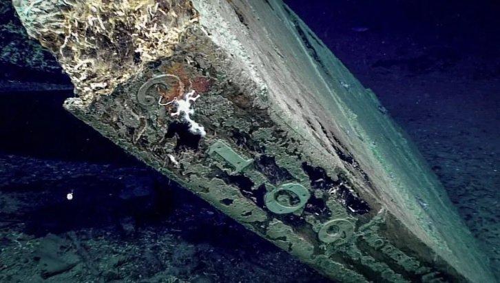 Leme da embarcação naufragada com o número 2019