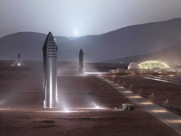Em 2050 teremos uma cidade em Marte com um milhão de habitantes