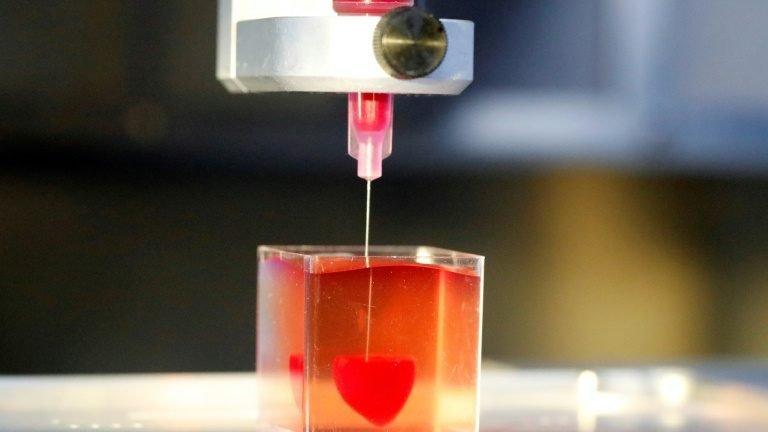 Tecido humano é usado para imprimir coração 3D
