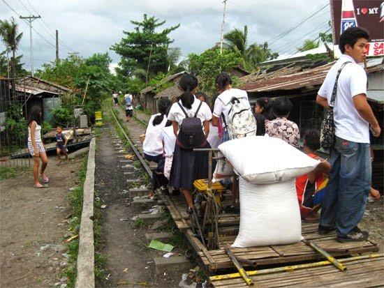 Carro de trilho Filipinas