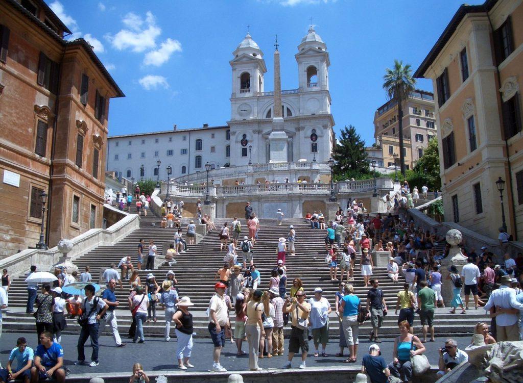 Escadaria em frente a Piazza di Spagna