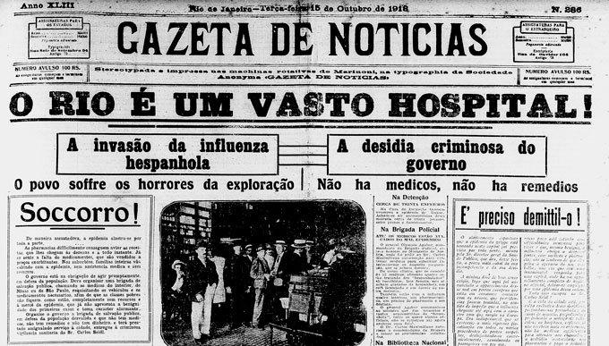 Jornal Gazeta de Notícias 1918