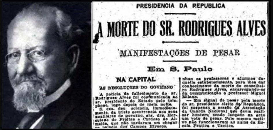 Morte Presidente Rodrigues Alves
