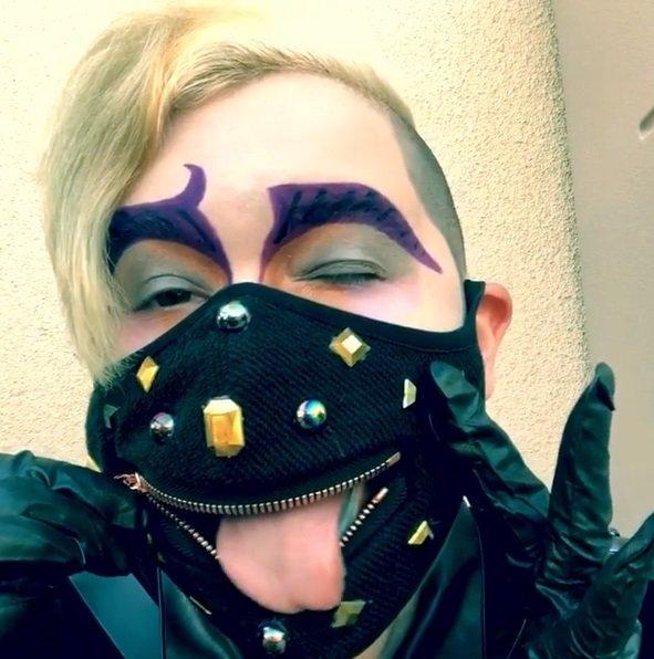 Máscara para comer