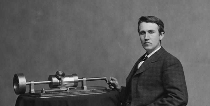 Edison cilindro fonógrafo