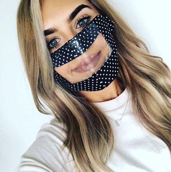 Máscara para surdo ver