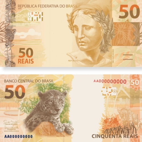 cédula de cinquenta reais nova