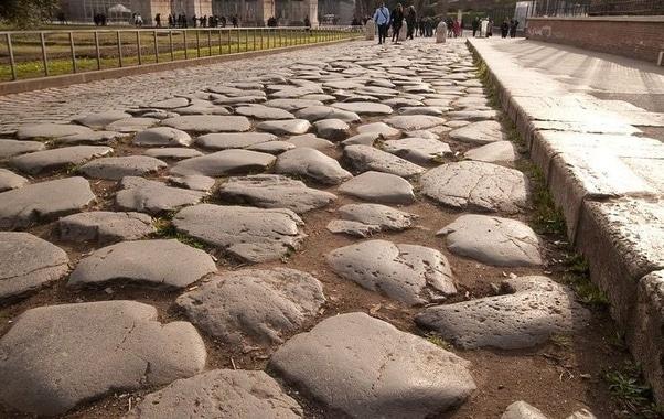 Estradas pavimentadas Roma