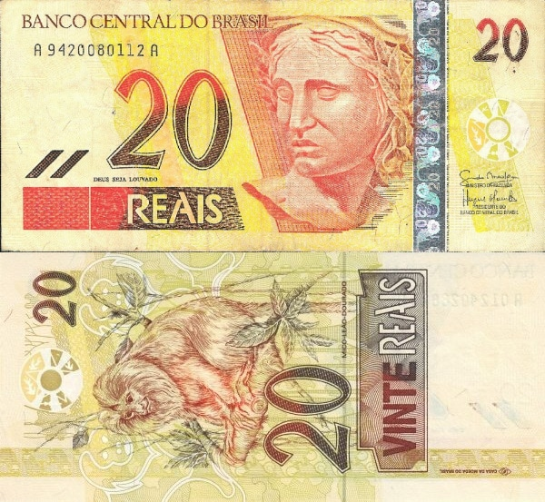 cédula de vinte reais