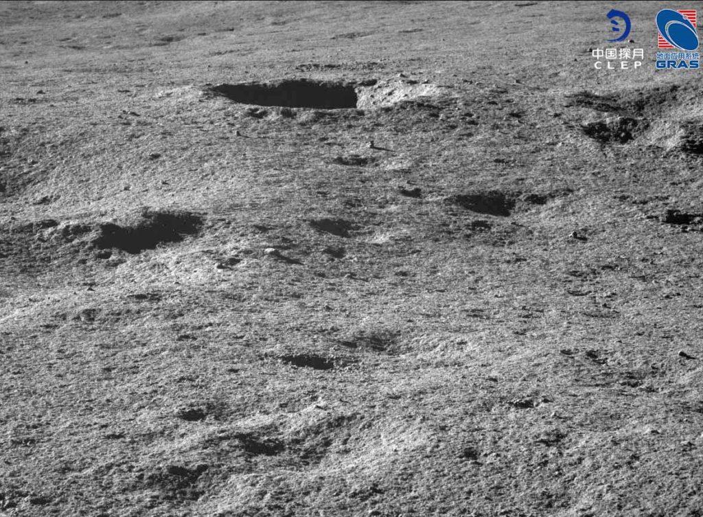 superficie irregular lunar
