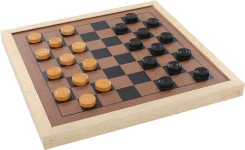0001606 jogo de dama e trilha em madeira
